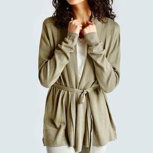 Zara wrap cardigan deep sage sweater